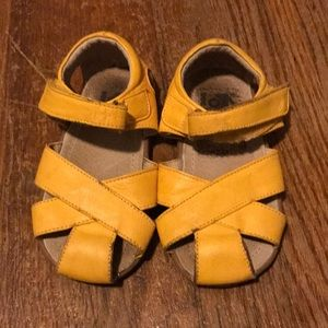 See Kai Run yellow sandals